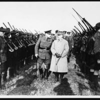 Marshal Foche and Sir Douglas Haig inspect guard of honour