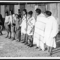 Natives of Manipur ready to do a war dance