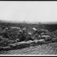 Outpost on a road in front of Ypres