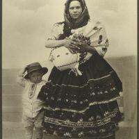 Slovak woman and children.