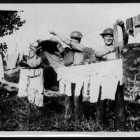 Washing day on the banks of the Ypres-Comines Cana
