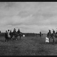 Winston Churchill inspecting Canadian troops, during World War I