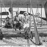 George A. Gray and wife in their Wright airplane: Ormond Beach, Florida