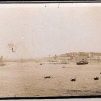 Queen Elizabeth class battleship in Valetta Harbour, Malta, 1920s/30s