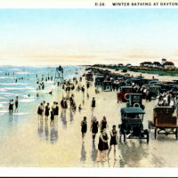 """Winter Bathing at Daytona Beach, Fla."""