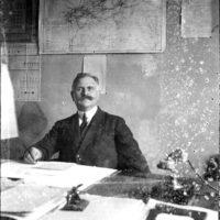 Bureau du chef de gare, Régie des chemins de fer, région d'Essen (Allemagne), décembre 1923