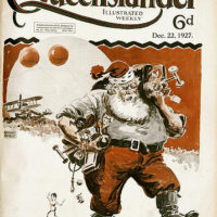 Illustrated front cover from The Queenslander, 22 December 1927