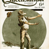 Illustrated front cover from The Queenslander, 27 October 1927
