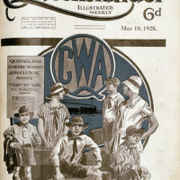 Illustrated front cover from The Queenslander, 10 May 1928