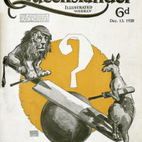 Illustrated front cover from The Queenslander, 13 December 1928