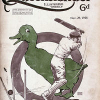 Illustrated front cover from The Queenslander, 29 November 1928