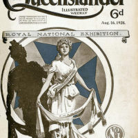 Illustrated front cover from The Queenslander, August 16, 1928