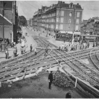 Trackwork at Rozengracht/Marnixstraat in Amsterdam 1928