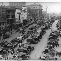 Market, Jacques Cartier Square, Montreal, QC, about 1930