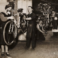 Final touches put to bicycles at Hercules bicycle factory, Birmingham, 1931