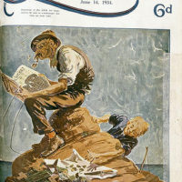 Illustrated front cover from The Queenslander, 14 June, 1934