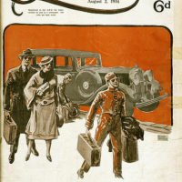 Illustrated front cover from The Queenslander, 2 August 1934