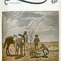 Illustrated front cover from The Queenslander February 21, 1935