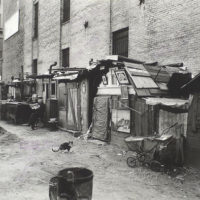 Unemployed and huts, West Houston -- Mercer St., Manhattan.
