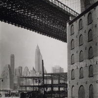 Brooklyn Bridge, Water and Dock Streets, looking southwest, ...