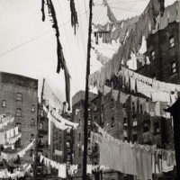 Court of first model tenement house in New York, 72nd Street...