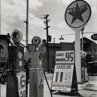 Gasoline station, Tremont Avenue and Dock Street, Bronx.