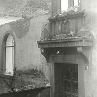 Part of the destroyed synagogue at Teichstrasse 11; Loerrach, Germany