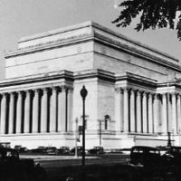 Exterior view of the National Archives building