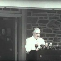 FDR Dedicates His Library at Hyde Park
