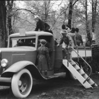 Children playing in Stockholm 1945
