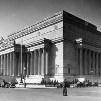 Exterior view of National Archives building