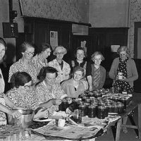 Members of Meifod Women's Institute making jam