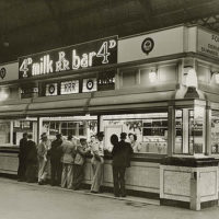 Central Station milk bar, 1946