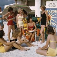 Sarasota Sun-Debs training at Lido Beach, Florida
