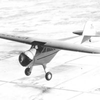 Cessna C-34 in flight