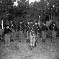North-South shoot, Civil War reenactment