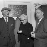 In search of the Welsh language in Ebbw Vale : Mr Clatworthy, Miss Mary Herbert and Mr Gwili Lewis.