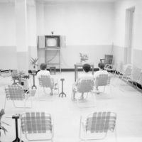 Patients watching TV at the Florida State Hospital in Chattahoochee, Florida