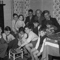 Mr a Mrs Owen Meredydd Williams' children eagerly awaiting Christmas - all ten of them