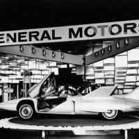 General Motors Corporation exhibit showing the Firebird III, Century 21 Exhibition