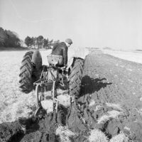 Ploughing in Anglesey in February