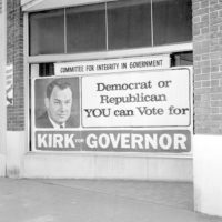 Political campaign sign for Claude Kirk - Jacksonville