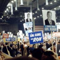 Supporters of California Governor Ronald Reagan at the 1968 Republican National Convention: Miami Beach, Florida