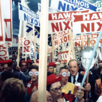 Supporters of Richard Nixon at the 1968 Republican National Convention: Miami Beach, Florida