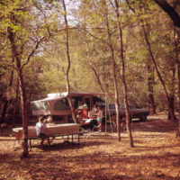 Campers at Manatee Springs State Park - Chiefland