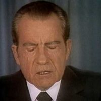 PRES. NIXON SPEAKS FROM WHITE HOUSE ON WATERGATE