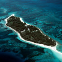 Aerial view of Loggerhead Key, Dry Tortugas