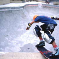 "Skateboarder ""pool riding"": Jacksonville, Florida"