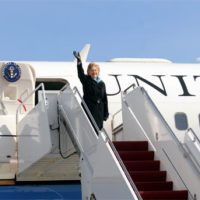 Secretary Clinton Leaves for Asia