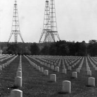 View of World War I graves at Arlington National Cemetery